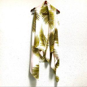 Jackets & Blazers - NWT Tropical Leaf Long Kimono Vest - Festival Wear